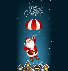 Christmas vertical banner design cute santa claus vector