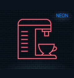 coffee machine line icon hot drink sign vector image
