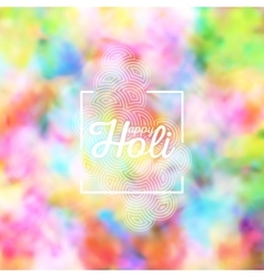 Colorful background for Holi celebration vector image