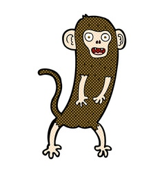 Comic cartoon crazy monkey vector