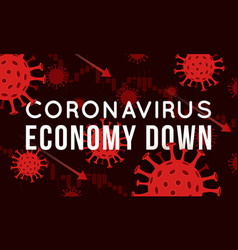 concept impact coronavirus on stock vector image