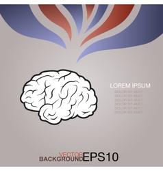 Creative concept of the human brain vector