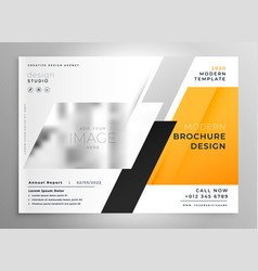 creative yellow business brochure flyer vector image