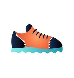 Cute trendy leather golf shoe for elegant man vector
