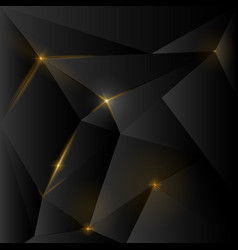 dark polygonal background with cracks and light vector image
