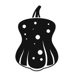 Dark pumpkin icon simple style vector
