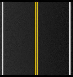 Design empty urban road marking road asphalt vector