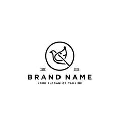 Dog bird logo design vector
