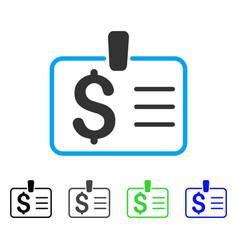 Dollar badge flat icon vector