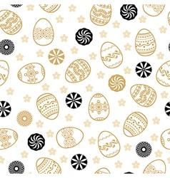 Easter golden pattern vector