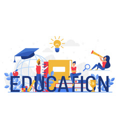education word cartoon flat vector image