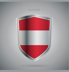 europe flags series austria modern icon vector image