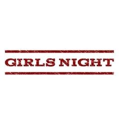 Girls Night Watermark Stamp vector