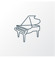 grand piano icon line symbol premium quality vector image
