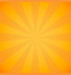 Halftone beam yellow sun rays vector