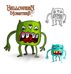 Halloween monsters four legs freak EPS10 file vector image