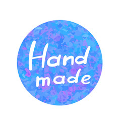 Hand drawn icon handmade on watercolor vector