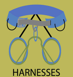 Harnesses for climbing icon vector image