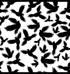 Holy birds dove seamless pattern vector image