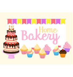 home bakery birthday cake vector image