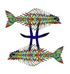 Horoscope Pisces vector image