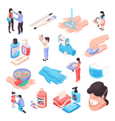 infection prevention set vector image