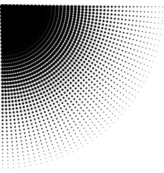 intensive diminishing halftone dots vector image