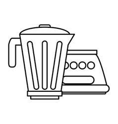 Isolated blender machine design vector