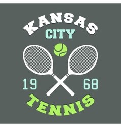 Kansas City Tennis t-shirt vector image
