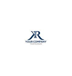 Kr legal law firm logo design vector