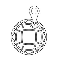 Location on globe pin map world image vector
