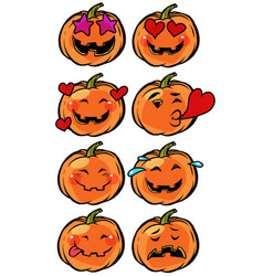 love heart passion confusion emoji halloween vector image