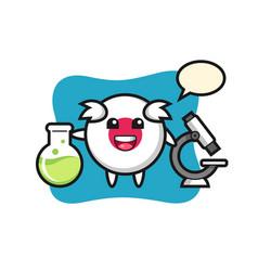 Mascot character japan flag badge as a vector
