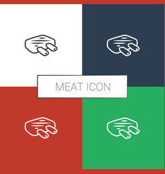 Meat icon white background vector