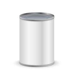 Metal tin can vector