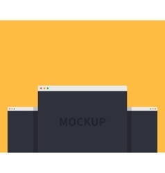 Mockup web page window design style vector