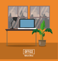 office work time vector image