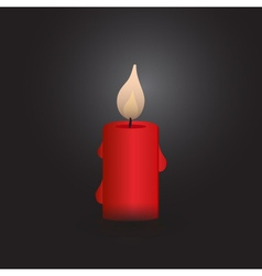 One red isolated candle at night eps10 vector