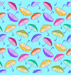 pattern with colorful umbrellas vector image