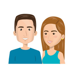 Persons group avatars characters vector