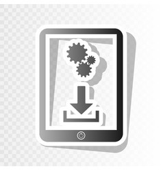 phone icon with settings symbol new year vector image