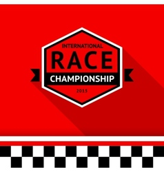 Racing badge 03 vector
