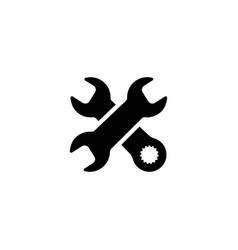 Repair service icon flat design vector