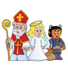 Saint nicholas day theme 7 vector