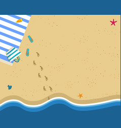 sea wave and sand beach square banner copy space vector image