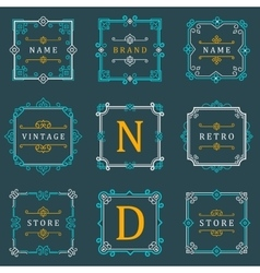 Set Luxury Logos and Monogram Template vector image