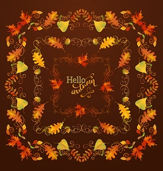 Set of autumn leaves frames vector