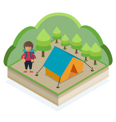 summer camping vector image