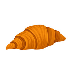 Sweet french croissant with crispy crust vector
