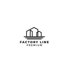 Three factory or home or real estate building vector